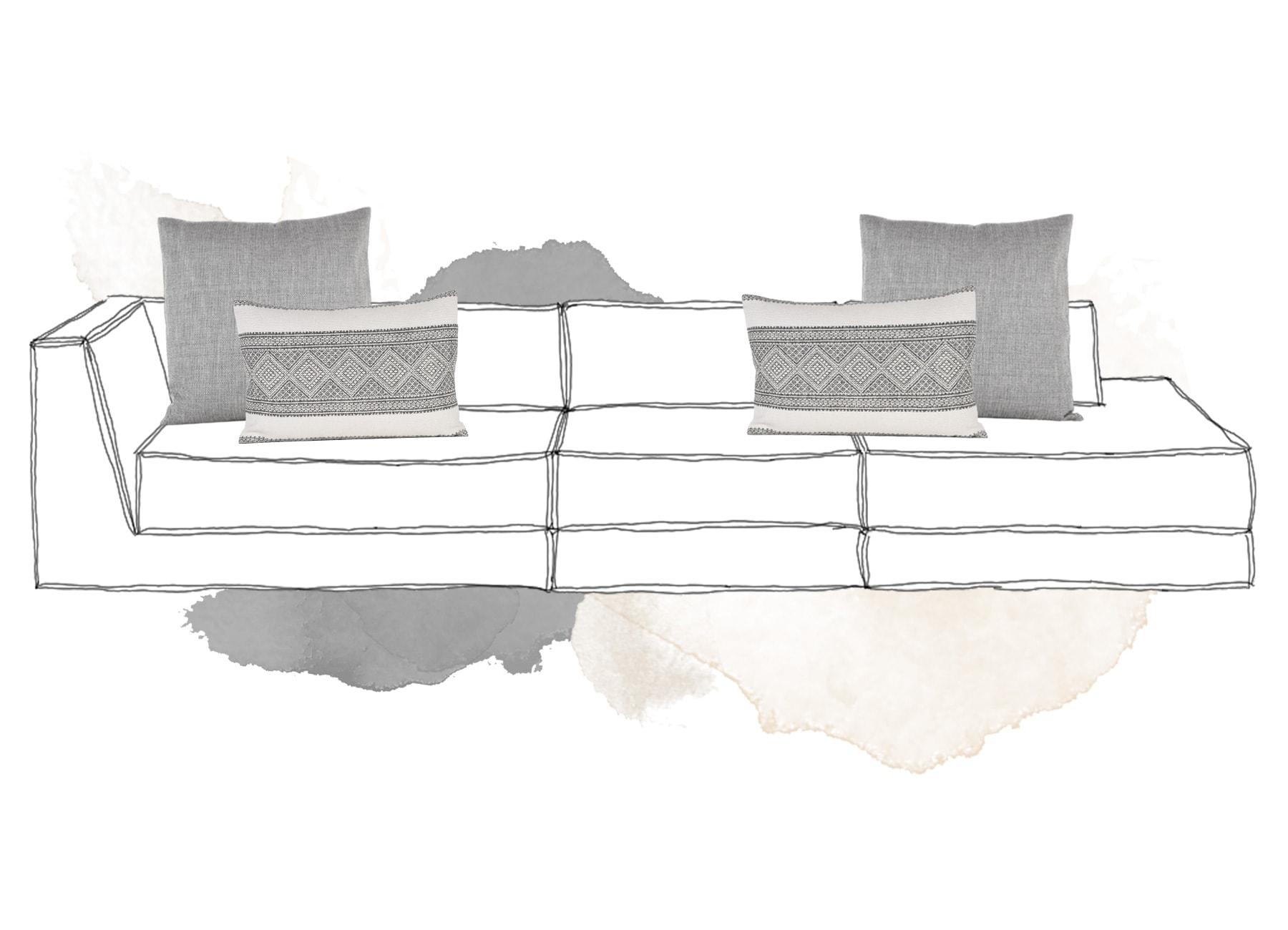 Sofakissen Inspiration in Grau